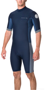 Rip Curl Aggrolite 2mm Back Zip Spring Shorty Wetsuit NAVY WSP6AM