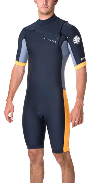 Rip Curl Aggrolite 2mm Chest Zip Spring Shorty Wetsuit SLATE WSP6GM