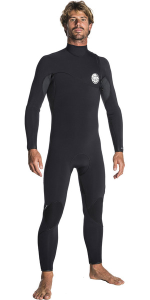 2018 Rip Curl Flashbomb 3/2mm Zip Free Wetsuit BLACK WSM7RF