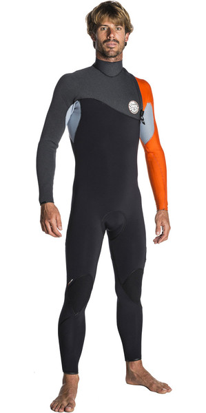 2018 Rip Curl Flashbomb 4/3mm Zip Free Wetsuit ORANGE WSM7SF