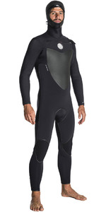 2018 Rip Curl Flashbomb 6/4mm Hooded Chest Zip Wetsuit BLACK WSE7OF