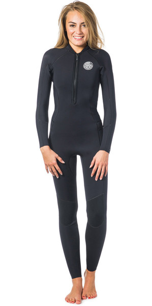 Rip Curl Ladies G-Bomb 2mm Front Zip Wetsuit Black WSM6HW