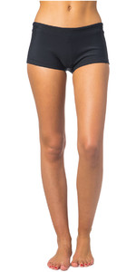 2019 Rip Curl Womens G-Bomb Boyleg 1mm Neoprene Shorts BLACK WSH4AW