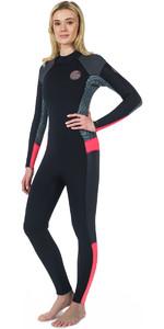 2018 Rip Curl Womens Dawn Patrol 5/3mm Back Zip Wetsuit NEON PINK WSM7EW