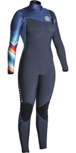 Rip Curl Womens G-Bomb 4/3mm GBS Zip Free Wetsuit DENIM BLUE WSM7IG