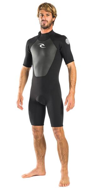 Rip Curl Omega 1.5mm Back Zip Spring Shorty Wetsuit BLACK WSP6CM