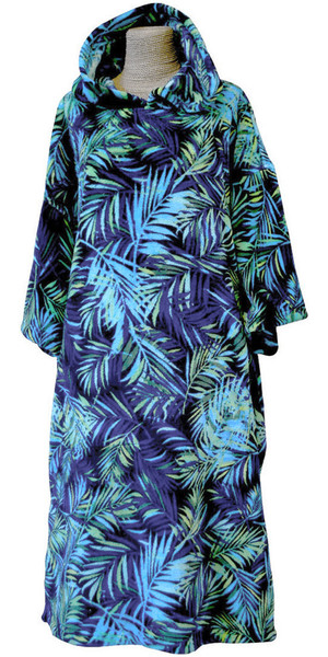 TLS SURF HOODED CHANGING ROBE / PONCHO - PALM TREES