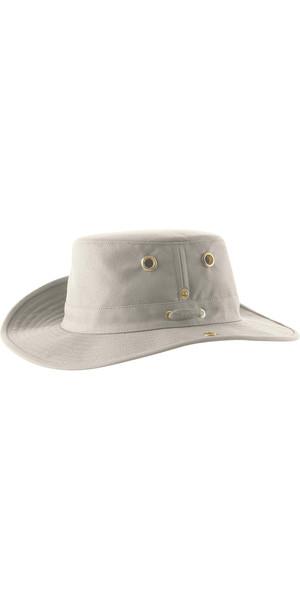 2019 Tilley T3 Snap-Up Brimmed Hat - NATURAL / GREEN