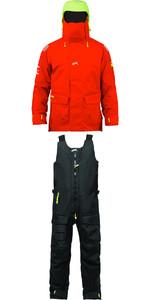 2019 Zhik Isotak 2 Jacket JK851 & Salopettes SAL851 Combi Set Flame Red / Black