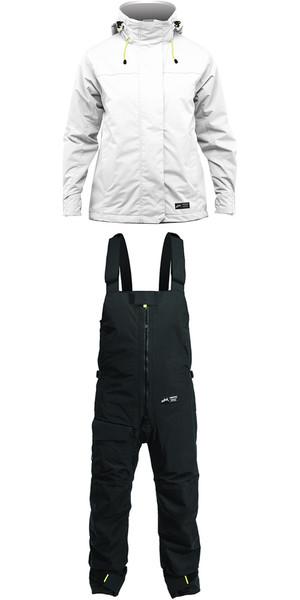 2019 Zhik Kiama Womens Harbour & Inshore Jacket J101W & Trouser TR101 Combi Set Ash / Black