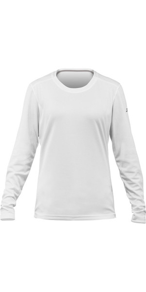 2019 Zhik Womens Long Sleeve ZhikDry LT Top WHITE TOP73W