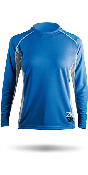 2019 Zhik Womens Long Sleeve ZhikDry Top Blue Top72W