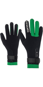 2019 Mystic Merino Wool 1.5mm GBS Neo Kitesurfing Glove Black / Green 170145