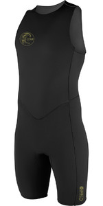 2019 O'Neill O'Riginal 2mm Back Zip Short John Wetsuit BLACK 4529