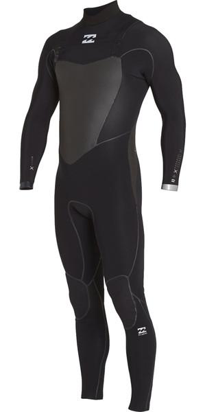 2018 Billabong Furnace Carbon X 4/3mm Chest Zip Wetsuit BLACK F44M12
