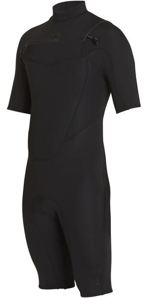 2018 Billabong Absolute 2mm Chest Zip GBS Shorty Wetsuit BLACK H42M12