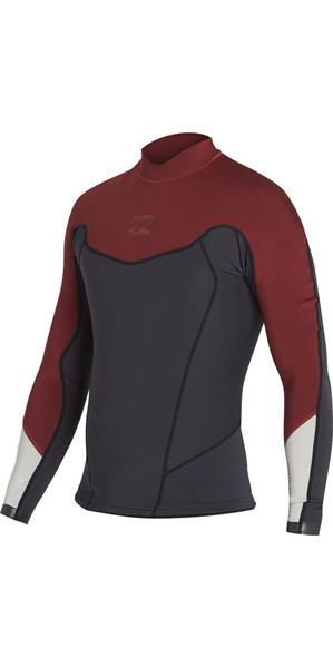 2018 Billabong Absolute comp 2mm Flatlock Neoprene Jacket BIKING RED H42M01