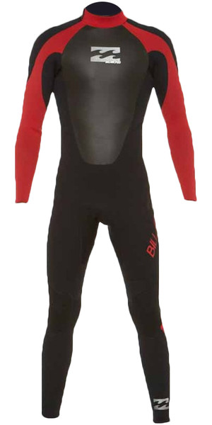 2018 Billabong Junior Intruder 4/3mm GBS Back Zip Wetsuit RED 044B15