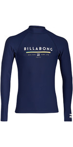 Billabong Junior Unity Long Sleeve Rash Vest NAVY H4KY02