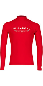 Billabong Junior Unity Long Sleeve Rash Vest RED H4KY02