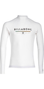 Billabong Junior Unity Long Sleeve Rash Vest WHITE H4KY02