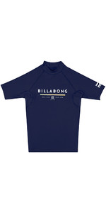 Billabong Junior Unity Short Sleeve Rash Vest NAVY H4KY01