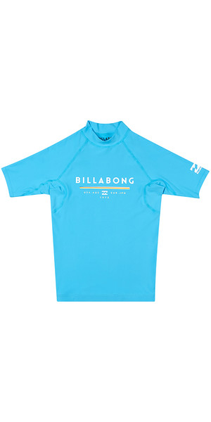 2018 Billabong Junior Unity Short Sleeve Rash Vest OCEAN H4KY01