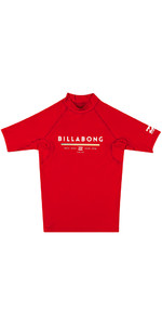 Billabong Junior Unity Short Sleeve Rash Vest RED H4KY01