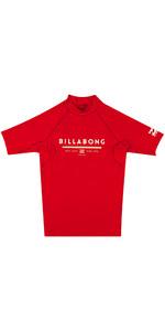 Billabong Junior Unity Short Sleeve Rash Vest RED H4KY01