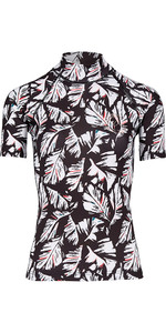 Billabong Womens Flower Short Sleeve Rash Vest FEATHER BLACK H4GY03