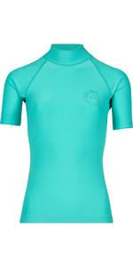 Billabong Womens Logo Colour Short Sleeve Rash Vest POOL BLUE H4GY07