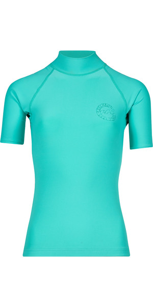 2018 Billabong Womens Logo Colour Short Sleeve Rash Vest POOL BLUE H4GY07