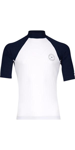 2018 Billabong Piston Short Sleeve Rash Vest WHITE H4MY08