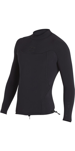 2018 Billabong Proairlite 1mm Long Sleeve Neoprene Top BLACK HEATHER H41M01