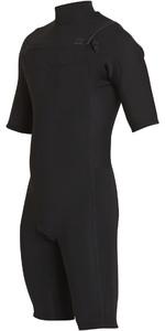 2018 Billabong Revolution 2mm Chest Zip Shorty Wetsuit BLACK H42M14