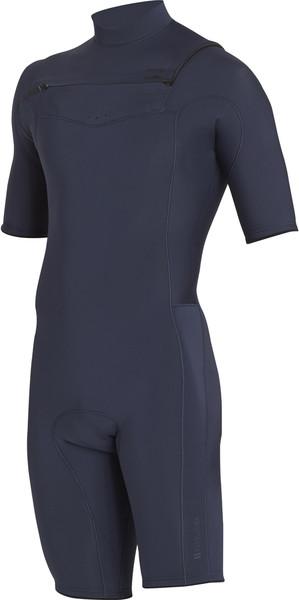 2018 Billabong Revolution 2mm Chest Zip Shorty Wetsuit SLATE H42M14