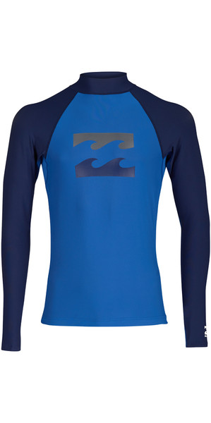 2018 Billabong Team Wave Long Sleeve Rash Vest PETROL BLUE H4MY04