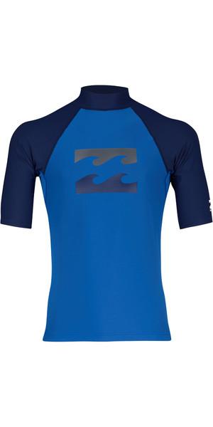 2018 Billabong Team Wave Short Sleve Rash Vest PETROL BLUE H4MY03