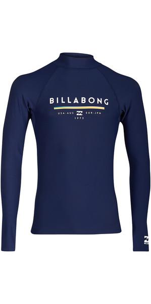 2018 Billabong Unity Long Sleeve Rash Vest NAVY H4MY02