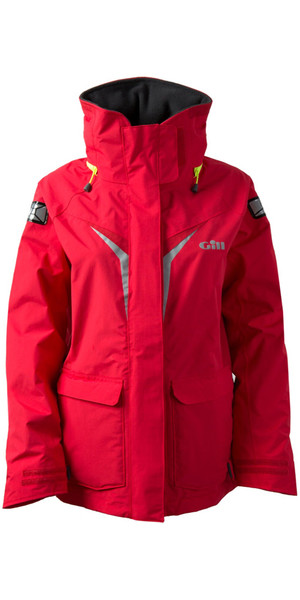 2018 Gill Womens OS3 Coastal Jacket BRIGHT RED OS31JW