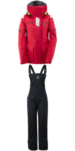 Henri Lloyd Womens Freedom Offshore Jacket Y00352 & Trouser Y10161 Combi Set Red / Black