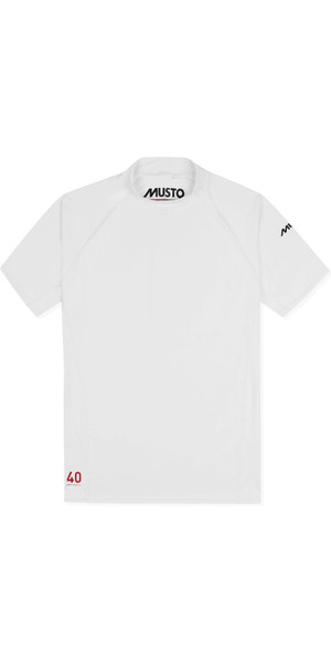 2019 Musto Mens Insignia UV Fast Dry Short Sleeve T-Shirt White SUTS008