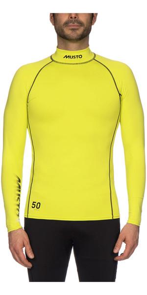 2019 Musto UPF50 Long Sleeve Rash Vest Sulphur Spring SUTS003