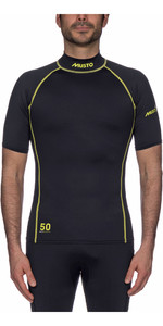 2019 Musto UPF50 Short Sleeve Rash Vest Black SUTS004