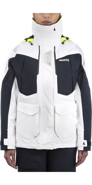 2019 Musto Womens BR2 Offshore Jacket White / True Navy SWJK014