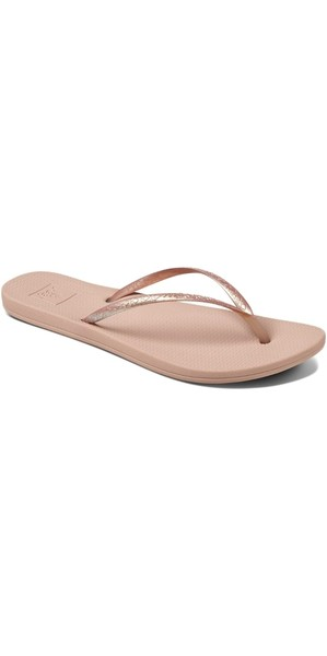 2018 Reef Womens Escape Lux Metals Flip Flops Rose Gold RF0A3OL8RG