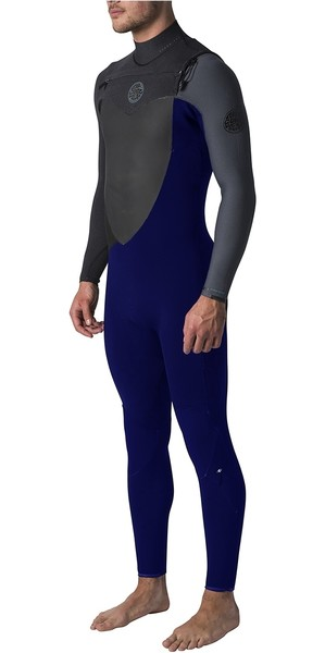 2018 Rip Curl Flashbomb 3/2mm GBS Chest Zip Wetsuit Slate WST7MF