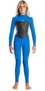 Roxy Junior Girls Syncro Series 3/2mm GBS Back Zip Wetsuit SEA BLUE II ERGW103013