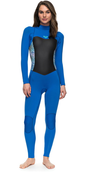 2018 Roxy Womens Syncro Series 3/2mm GBS Back Zip Wetsuit SEA BLUE II ERJW103024