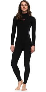 2018 Roxy Womens Syncro Series 3/2mm GBS Chest Zip Wetsuit BLACK ERJW103025